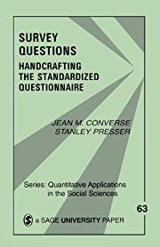 Survey Questions: Handcrafting the…