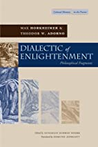 Dialectic of Enlightenment (Cultural Memory…