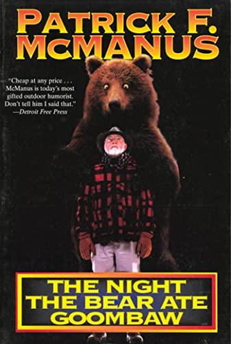 The Night the Bear Ate Goombaw, McManus, Patrick F.