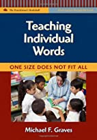 Teaching Individual Words: One Size Does Not…