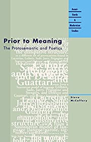 Prior to Meaning: The Protosemantic and…