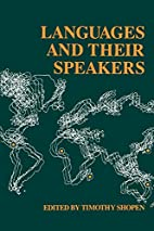 Languages and Their Speakers by Timothy…