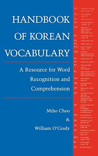 PDF] Handbook of Korean Vocabulary: A Resource for Word