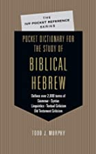 Pocket Dictionary for the Study of Biblical…