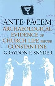 Ante Pacem: Archaeological Evidence of…