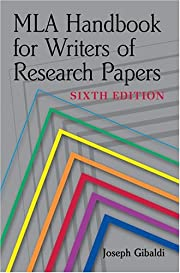 MLA Handbook for Writers of Research Papers,…