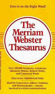 The Merriam Webster Thesaurus af…
