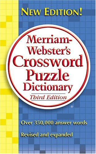 Merriam-webster's Crossword Puzzle Dictionary, Merriam-Webster