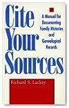 Richard S. Lackey,Cite Cite:用于记录家庭历史和遗传记录的手册