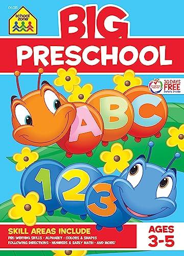 Read Now School Zone - Big Preschool Workbook - Ages 3 - 5, Colors, Shapes, Numbers 1-10, Alphabet, Pre-Writing, Pre-Reading, Phonics, and More (School Zone Big Workbook Series)