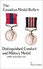 Distinguished Conduct and Military Medal…