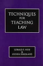 Techniques for teaching law – tekijä:…