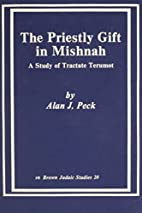 The priestly gift in Mishnah : a study of…