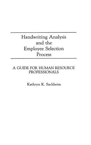 an analysis of the selection of employees Analysis of the data provides no support for the use of this instrument in predicting either selection or performance the validity of selection instruments must be carefully examined in the specific context of their use.