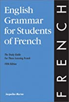 English Grammar for Students of French by…