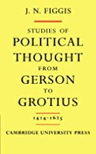 Studies of political thought from Gerson to…