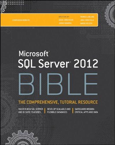 microsoft sql server 2012 bible free download