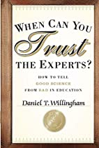 When Can You Trust the Experts: How to Tell…