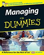 Managing For Dummies by Richard Pettinger