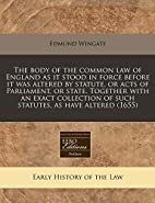 The body of the common law of England as it…