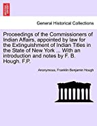 Proceedings of the Commissioners of Indian…