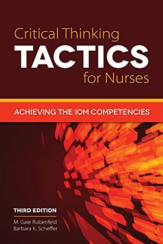 critical thinking tactics for nurses 3rd edition pdf