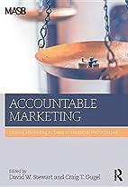 Accountable marketing : linking marketing…