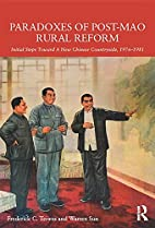 Paradoxes of post-Mao rural reform : initial…