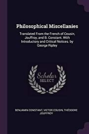 Philosophical Miscellanies: Translated From…
