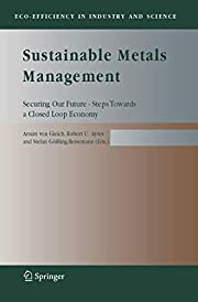 Sustainable metals management : securing our…
