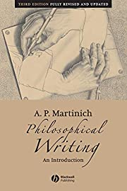 Philosophical Writing: An Introduction de A.…