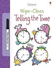 Wipe Clean Telling The Time de Usborne