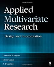 Applied Multivariate Research: Design and…