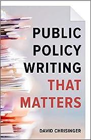 Public policy writing that matters de David…