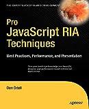 couverture du livre Pro JavaScript RIA Techniques