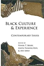 Black Culture and Experience: Contemporary…