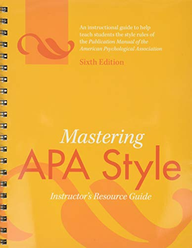 Concise Rules Of Apa Style Pdf