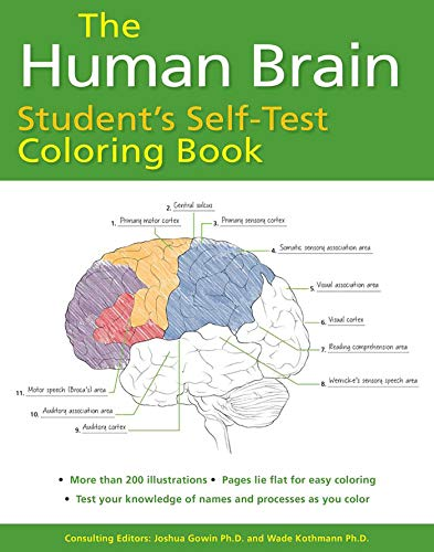 The Human Brain Student's Self-Test Coloring Book ➞ by Ph D