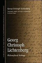Georg Christoph Lichtenberg: Philosophical…