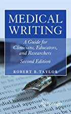 Medical Writing: A Guide for Clinicians,…