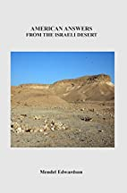 American Answers From The Israeli Desert by…