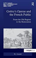 Gretry's Operas and the French Public:…