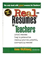 Real-resumes for teachers by Anne McKinney