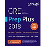 GRE Prep Plus 2018: Practice Tests + Proven Strategies + Online + Video + Mobile (Kaplan Test Prep)