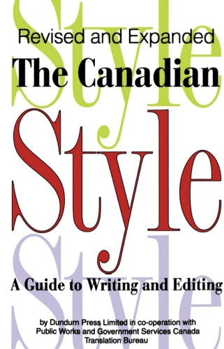 the canadian style a guide to writing and editing 1997 nissan