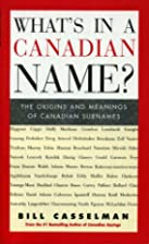What's in a Canadian name? : the origins and…