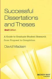 Successful Dissertations and Theses: A Guide…