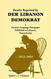 Deaths Reported by Der Libanon Demokrat, a…