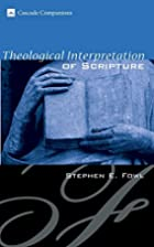 Theological Interpretation of Scripture by…