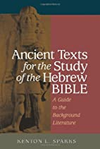 Ancient Texts For The Study Of The Hebrew…